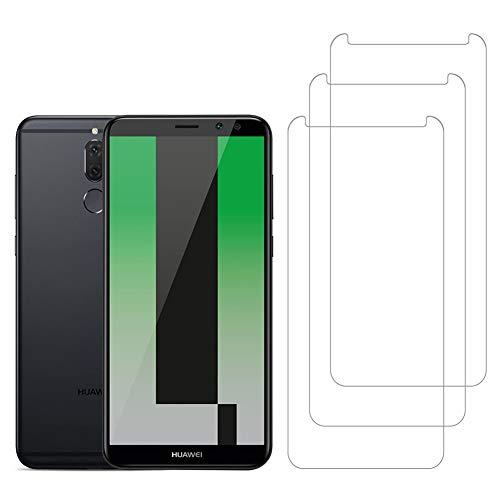 [3 Unidades] Amonke Protector de Pantalla para Huawei Mate 10 Lite Cristal Templado, 9H Dureza Alta Definicion [Sin Cobertura Toda Pantalla] Vidrio Templado Screen Protector para Huawei Mate10 Lite