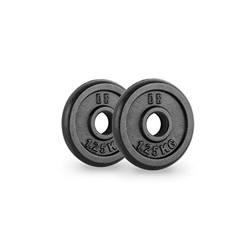 Capital Sports IPB 1.25 Paire de disques pour haltère Musculation 30mm 1,25 kg