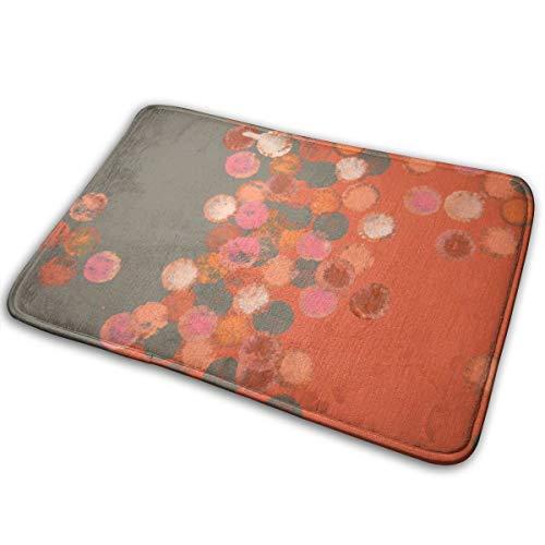 Pengyong Alfombra de goma para exterior, diseño de lunares, color gris, naranja, para porche, garaje, gran flujo, alfombra estándar para el hogar, 60 x 40 cm