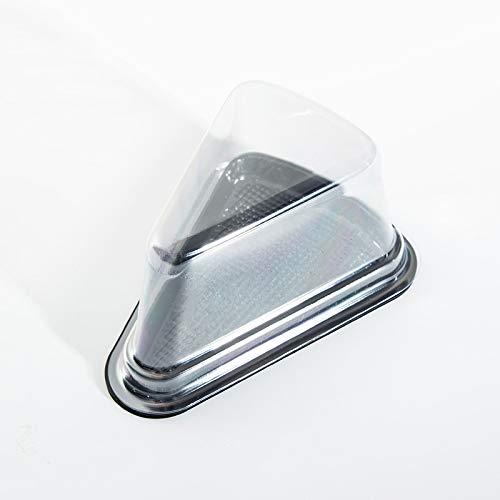 CHZIMADE Caja para tartas triangular transparente, paquete de 10 unidades