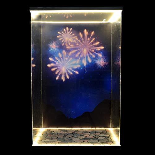 MAJOZ Acryl Vitrine Schaukasten mit Led Beleuchtung,Schaukasten Für Lego Disney 71040 (Beinhaltet Nicht das Lego-Modell)