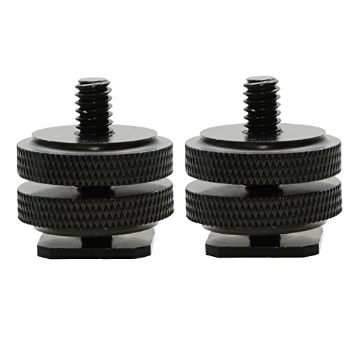 Foto&Tech 2 Pieces All Metal Universal Shoe to 3/8-16 Threaded Adapter