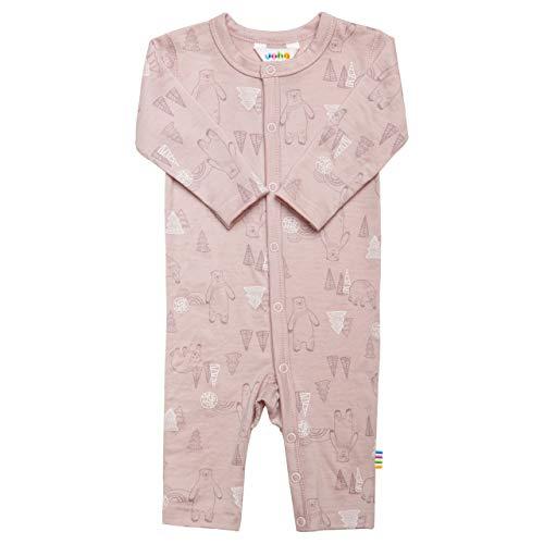 Joha Baby Mädchen Schlafstampler aus Merino-Wolle, Größe:80, Farbe:rosa