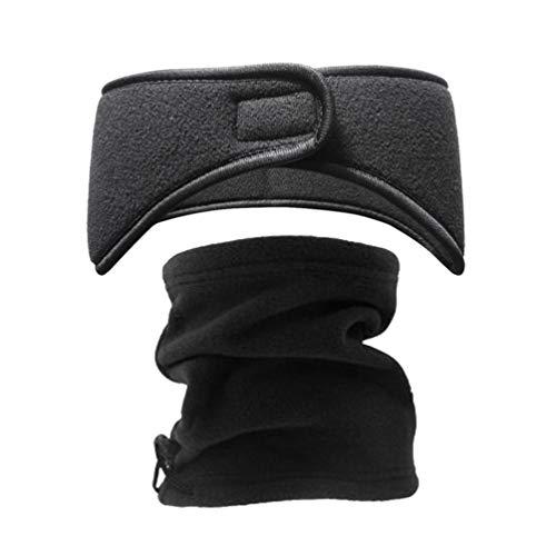 Beaupretty – Polaina macia para o pescoço – máscara bandana para o clima frio, inverno, esportes ao ar livre, 2 peças