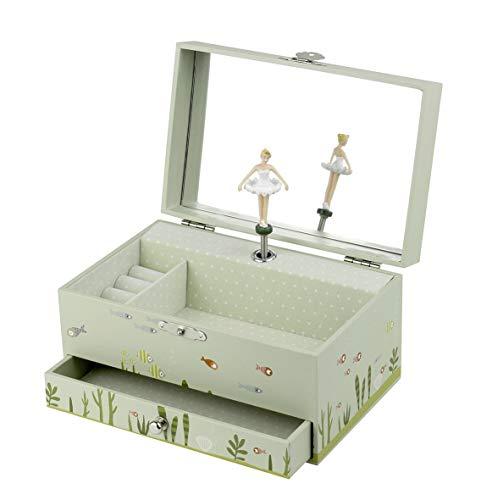 Trousselier - Meerjungfrau - Musikschmuckdose - Spieluhr - Ideales Geschenk für junge Mädchen - Musik It's a Small World - Farbe grün