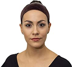Wig Grip by Indigo Exchange - New Adjustable Elastic Closure Prevents Hair Breakage and Bunching - Non Slip Wig Accessory - Holds Wigs in Place-Velvet Wigrip Comfort Band for Women (Brown)