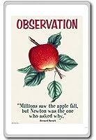 何百万人は、Appleの秋を見ました。 - バーナード・バルーク - モチベーション引用冷蔵庫用マグネット