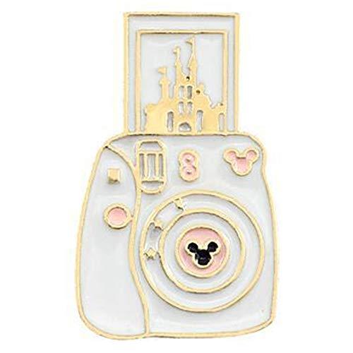 Flairs New York Premium Handmade Enamel Lapel Pin Brooch Badge (White Magic Instant Camera, 1 Pin)