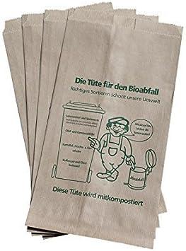 Papiersäcke Müllsäcke 2 lagig Bio Biomüll Papiersack braun Mülltüten Biobeutel