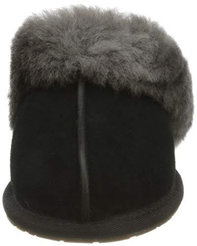 UGG Female Scuffette II Slipper, Black/Grey, 8 (UK)