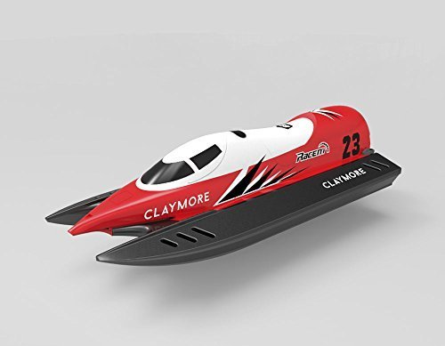 2.4Ghz Radio Control High Speed Pool Racer Claymore Speed Boat ABS Unibody RC RTR