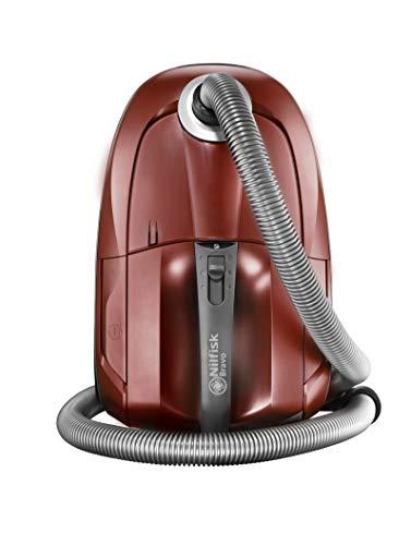 Nilfisk Bravo SR10P07A Staubsauger mit Energiezylinder – für alle Fußböden – XL-Staubsaugerbeutel & EPA-Filter, 700 W (dunkelrot)