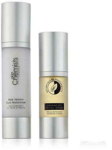 skinChemists Advanced Natural Face Care Set: Botanicals Gesichtsserum and Bee Venom Feuchtigkeitscreme, 80 ml