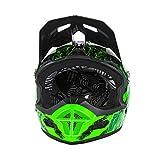O'NEAL | Mountainbike-Helm | MTB Downhill | Nach Sicherheitsnorm EN1078, Ventilationsöffnungen für Luftstrom & Kühlung, ABS Außenschale | Fury Helmet Mercury | Erwachsene | Schwarz Grün | Größe XL