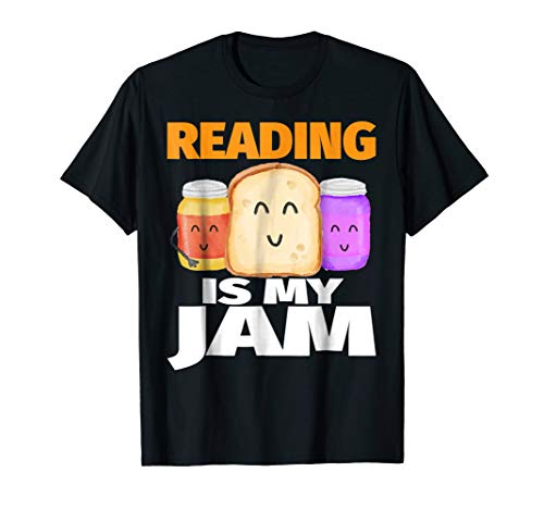 READING IS MY JAM Shirt Funny I Love to Read Books Gift