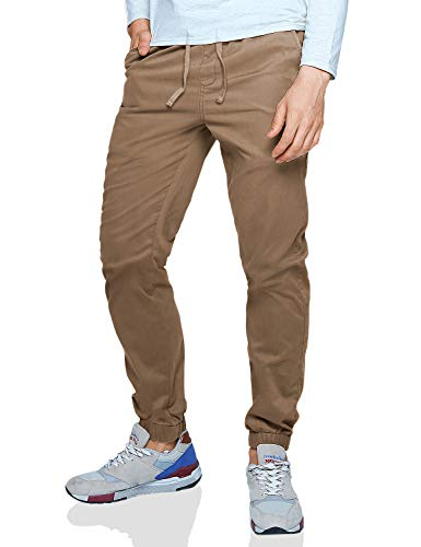 Match Men's Loose Fit Chino Washed Jogger Pant (30, 6535 Khaki)