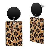 SoulCats® Pendientes con diseño de leopardo