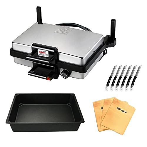CiCi HOME SILEX ® AKTIONSPAKET Multigrill + Bratpfanne + Ilbays Tücher 3er Set + Solingen Messer 6er Set
