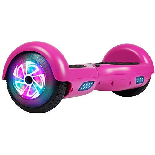 Felimoda Hoverboard 6.5 inch w/LED Wheels Side Lights- UL2272 Certified Purple(no Bluetooth)