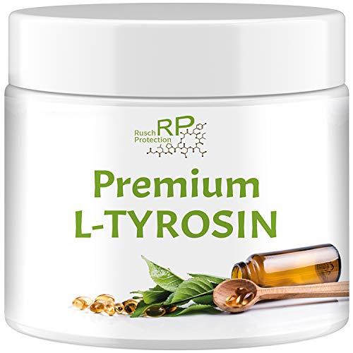 Premium L-Tyrosin Pulver, 210g Dose, Hochdosiert, Orangen-Geschmack, stärkstes Aminosäuren Powder mit Taurin und Vitamin B6, Muskelaufbau - Top Qualität aus Deutschland