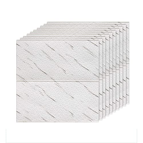 LICHAO Paneles de pared de espuma de pared de pared pared moderno decorativo papel pintado en 3D 70 * 70 cm Textura diatom Panel de pared Impermeable Imitación Azulejo de cerámica Pegatinas de pared A