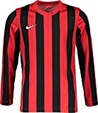 Nike STRP Dvsn IV JSY - Top a Maniche Lunghe Unisex per Bambini, Unisex - Bambini, CW3825-658, università Rosso/Bianco/Nero, 7-8 Anni