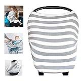 Multiusos orgánico algodón enfermería lactancia materna, Baby Set de coche para toldo carrito de la compra cubierta Swaddle Manta para bebés recién nacidos Niños ducha regalo