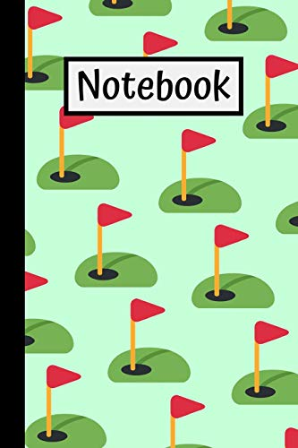 Golf Notebook: Lined Journal 6x9