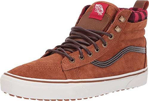 Vans Unisex SK8-Hi MTE Suede Fashion Sneakers ((MTE Glazed Ginger/Marshmellow), 11.5)