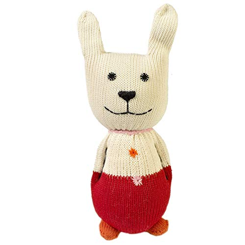 Alfred & Compagnie Doudou lapin rouge