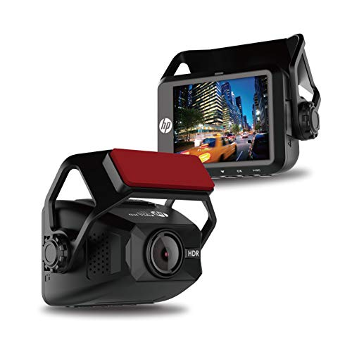"HP F650   Full HD 1080P Car Driving Dash Cam, Auto G-Sensor, 2"" LCD 150° Wide Angle Night Vision, Loop Recording, Single Front Digital Dashboard Interior Mini Video Camera Recorder"
