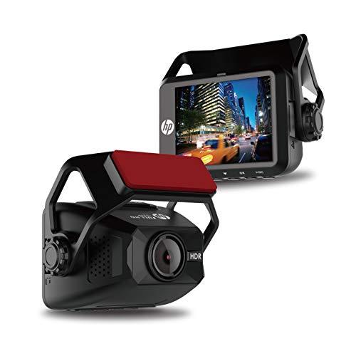 "HP F650 | Full HD 1080P Car Driving Dash Cam, Auto G-Sensor, 2"" LCD 150° Wide Angle Night Vision, Loop Recording, Single Front Digital Dashboard Interior Mini Video Camera Recorder"