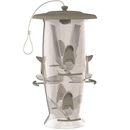 Stokes Select Abundance Bird Feeder, 6 Feeding Perches, 3.5 lb Bird Seed Capacity