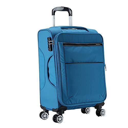 Spinner de 4 Ruedas Estuche para Trolley de Viaje Retención Maleta para Equipaje 24 FENGMING (Color : Azul Claro, Tamaño : 24 Inches)