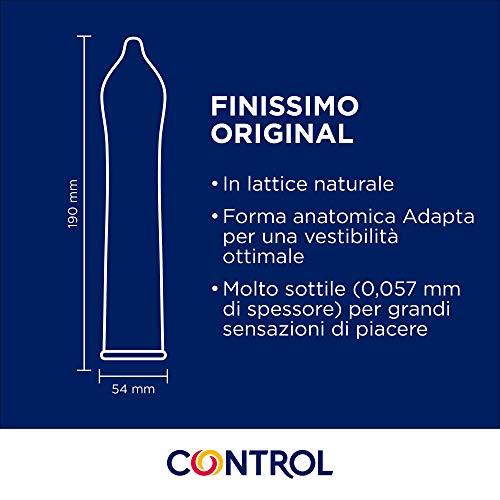 Control Finissimo - Caja de condones muy finos, gama sensibilidad, lubricados, ajuste perfecto, sexo seguro, 24 unidades (pack ahorro)