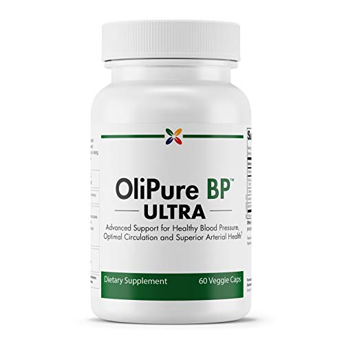Stop Aging Now - OliPure BP Ultra - Advanced Olive Leaf Extract Healthy Blood Pressure Support Formula - 60 Veggie Caps