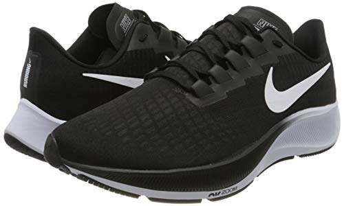 Nike Men's AIR ZOOM PEGASUS 37 Cross Country Running Shoe, Black White, 6.5 UK