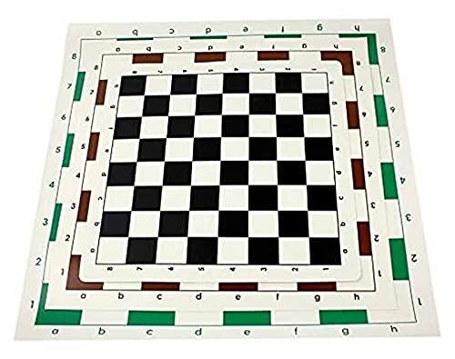 LPQSY Board Set Gifts Checkers Set Schachbrett Kleines mittelgroß PVC Tragbares weiches rollbares Lederbrett ohne Schachfiguren Zufälliges Farbschachspiel (Size : 51cm)