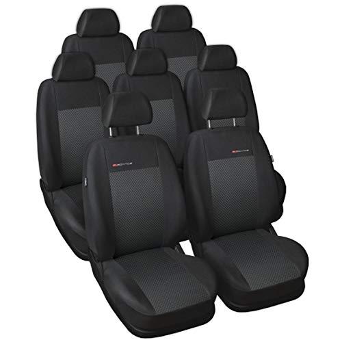 S Sharan Sitzbezüge nach Maß Autoplanen perfekte Passform Schonbezüge Sitzschoner Velour + Strickpolster ®Auto-schmuck (Sharan II 7 p3)
