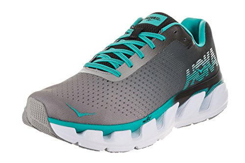 HOKA ONE ONE Women's Elevon Running Shoe, Black/Bluebird, 11 B(M) US