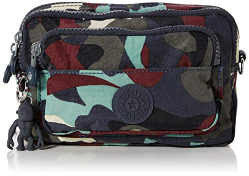 Kipling Damen Multiple Umhängetasche, Mehrfarbig (Camo Large), 20x13x7.5 cm