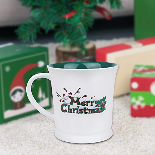 Christmas Coffee Mug, Merry Christmas Ceramic Coffee Cup,Holiday Decorative Novelty Mug New Year Gifts Christmas Gifts for Family/ Friends