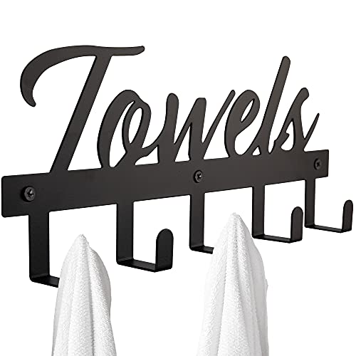 Aesthetic Bathroom Towel Rack for Wall Mount – Space Saving and Easy to Install Towel Holder Hooks - The Perfect Addition to Your Bathroom Decor