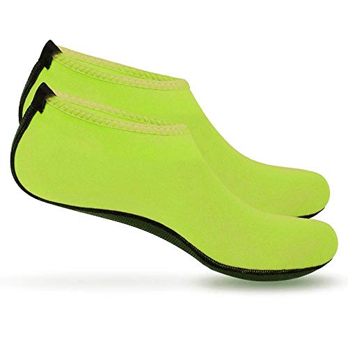 Boolavard Scarpe Sport Acquatici Barefoot Quick-Dry Aqua Yoga Slip Slip-on per Uomo Donna Bambino (M - 38-39 EU, Verde)