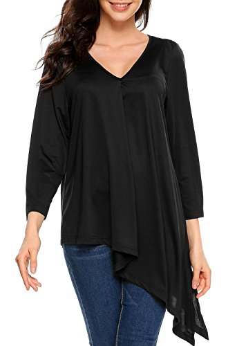 Livesimply Women's V-Neck Tunic Blouse Top