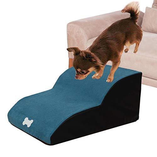 Scala per scale per cani, scala leggera, divano per cani, rampa per cani, scala per animali domestici con 2 gradini per cani e gatti da utilizzare Assistenza interna ed esterna per scale per salire