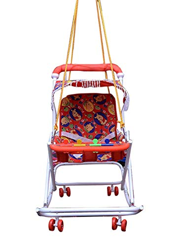 SHOPITRRA Baby Doll Stroller Foldable Baby Pram for Baby Age 3 Year & Above ( RED Color )...
