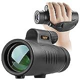 Telescopio Monocular, 8x42 HD FMC BAK4 Monocular Impermeable Portatil con Correa de Mano Adecuado para Observación de Aves, Viajes, Conciertos, Competición, Caza
