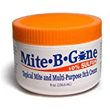 Mite-B-Gone 10% Sulfur Cream Itch Relief from Mites, Insect Bites, Acne, and Fungus (8oz) Fast and Effective at Removing Human Mites with an All-Natural Blend of Anti-Inflammatory Ingredients