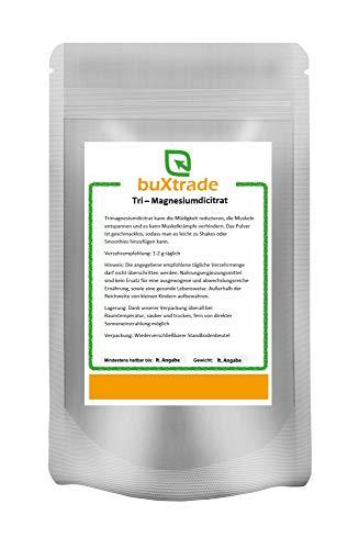 Tri-Magnesiumcitrat | Nahrungsergänzungsmittel | Pulver | Magnesium | Buxtrade | Verschiedene Mengen (500 g (EUR 25,00 / kg))